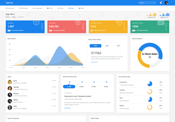 Agroxa - Material Design Admin & Dashboard Template