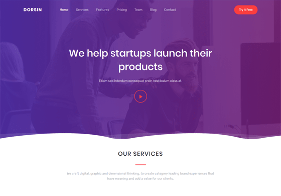 Dorsin - Landing Page Template