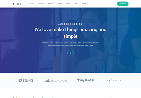 Hiric - Responsive Landing Page Template