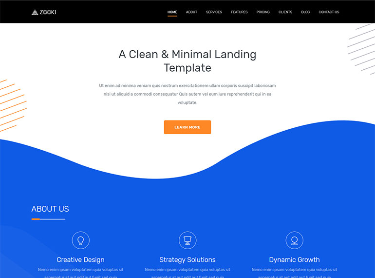 Zooki - Responsive Bootstrap 4 React Landing Page Template